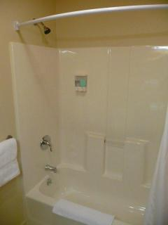 Tub Shower in En Suite Bathroom