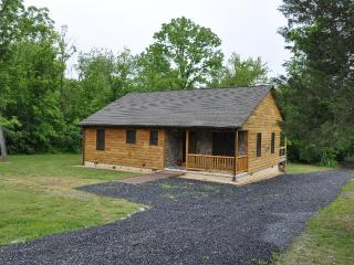 Bear Timbers  log cabin on the Shenandoah River