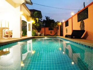 Private Pool Area with Exterior Lights to Enjoy Swimming at Night