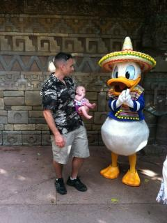 Donald Duck meets Molly