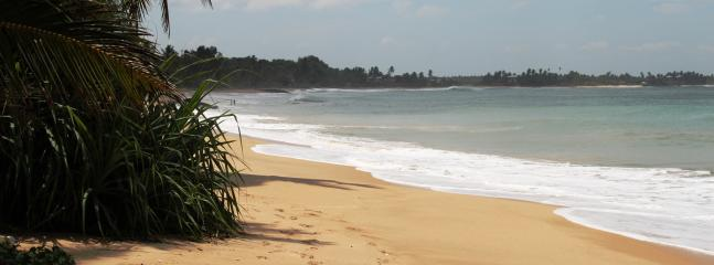 Beach next to Villa Tanjuro, less than a minute walking distance