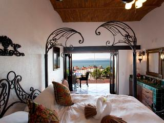 Upper level bedroom with en suite bathroom, private terrace and ocean view