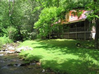 Log Cabin by Stream, Sylva