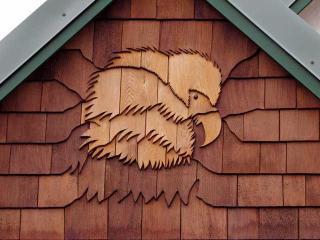 Bald Eagle shingle art on front