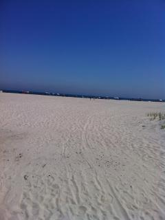 Large, clean and uncrowded beach