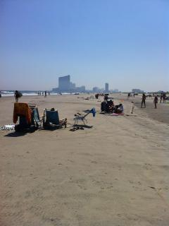 View of Atlantic City in distance