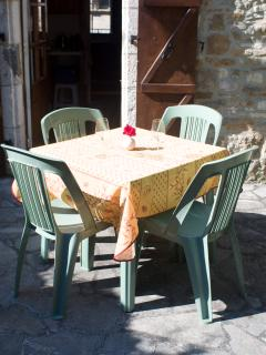 Dining alfresco on the terrace