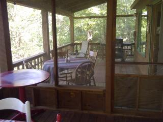 Front deck and screened porch