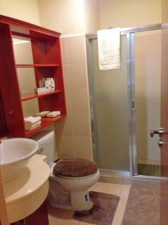 Recent photo: Bathroom with glass shower enclosure