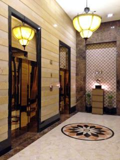Elevator Lobby with four high-speed elevators