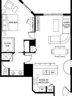 1-Bdrm Deluxe Floorplan