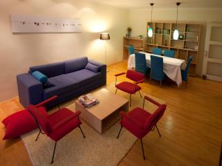 CONNECTED TO BALCONY-(3M LENGT,1.3M WIDE,SMALL COFFEE TABLE,2CHAIRS,FLOWERS,