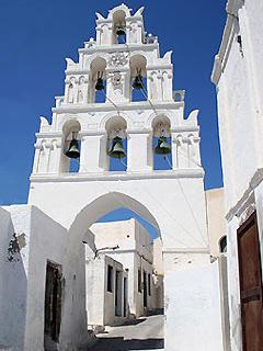 Bell Towers in Megalochori- only 50 meters from our villa.