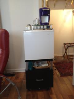 Keurig coffeemaker & mini refrigerator