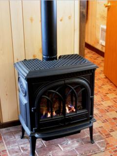 cozy cast iron propane fireplace