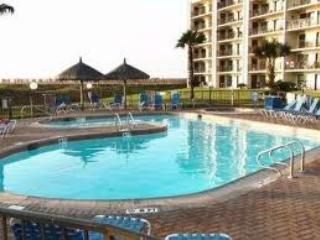 One of the 2 smaller pools located by the gate to the beach.  Each pool has a hot tub.