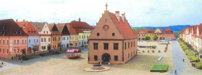 Medieval Bardejov town square