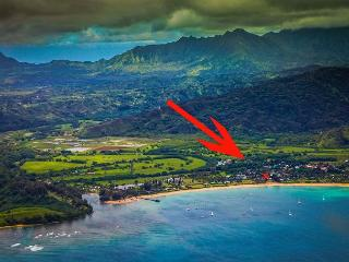 Steps to Beautiful Hanalei Bay with ocean views!!  15% off Fall Dates!!