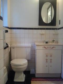 Bathroom with walk in shower!