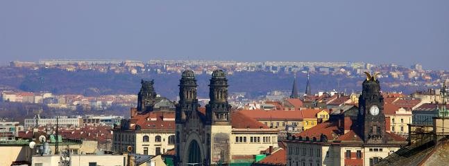 Prague skyline - view from the apartment window