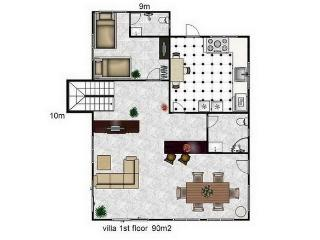 downstairs villa layout