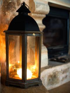 ..near the fireplace