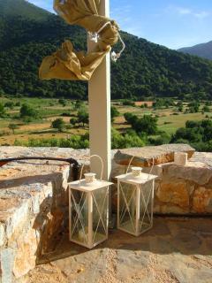 One of 4 verantas of Galatia ... with garden dining table