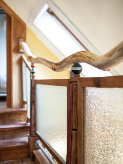 The rest of the tree was used as a railing in the loft