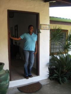 Our housekeeper, Luenda, will great you.