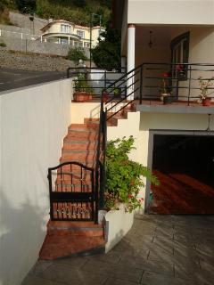 External staircase to garage on lower level (There is also an internal staircase)