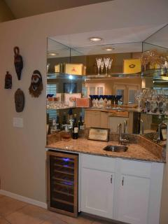 Wet Bar with Wine Cooler