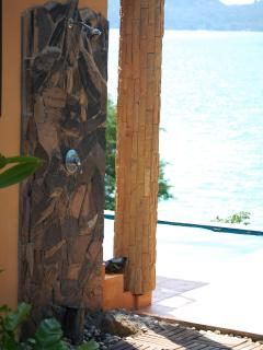 Pool Level:Outdoor Shower w Ocean View By Pool