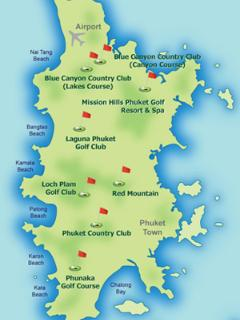 Golf Club Map Showing All Courses