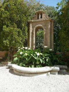 Ancient marble fountain