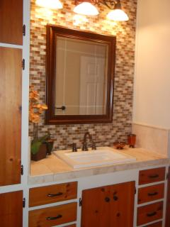 Upstairs Bathroom with lovely mosiac tiles