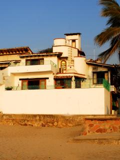 View of Casa Nicte from Our Beach (After a Rain Storm)