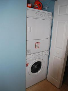 stackable washer/dryer in hall closet