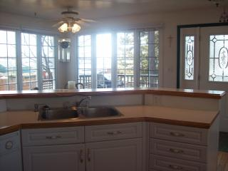 Kitchen over looking Marina