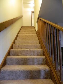 Gradual staircase-easy for elderly,kids