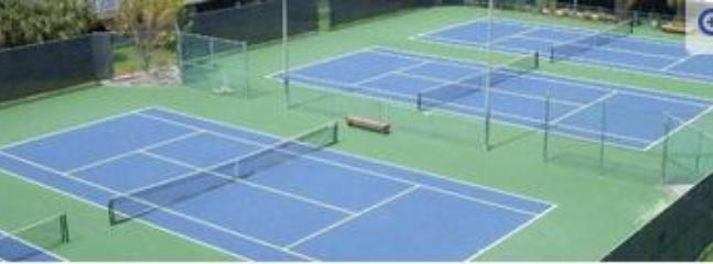 One set of tennis courts