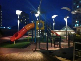 Children playground open day & night secured on 11th floor
