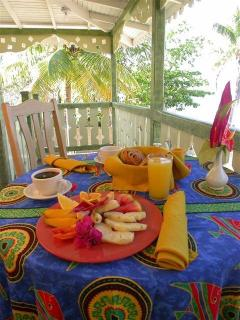 Enjoy your full breakfast served to you on your verandah for privacy