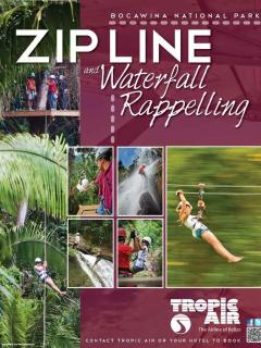 Zip line Belize Tours, now you can book a tour w Bella Sombra Guest House