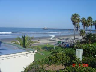 Uitzicht op het strand van huis