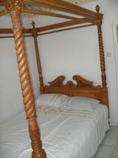 Bedroom 1 with King size four poster bed.