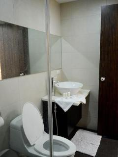toilet with bidet and hot shower