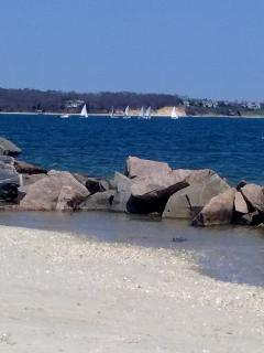 Beautiful Peconic bay beach - short stroll