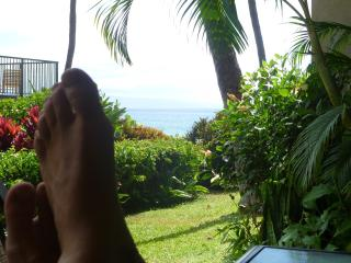 kicking back on lanai