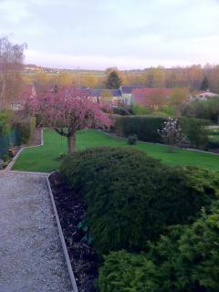 View from the children's bedrooms in the spring