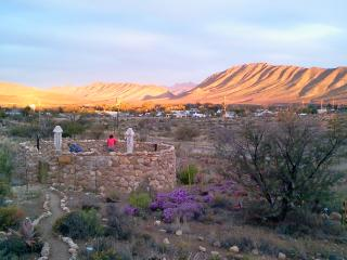 View from all 4 cottages overlooking village and Swartberg Mountains
